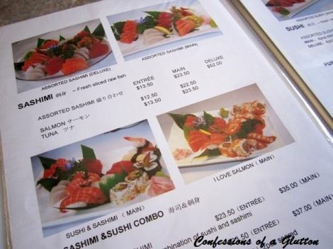 Hinode Japanese Restaurant Menu
