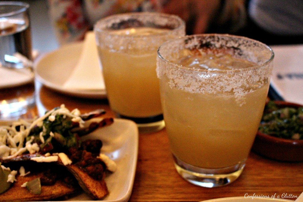 House margaritas - Herradura Blanco, Cointreau, Agave, fresh lime, salt rim on the rocks ($18.50 each)