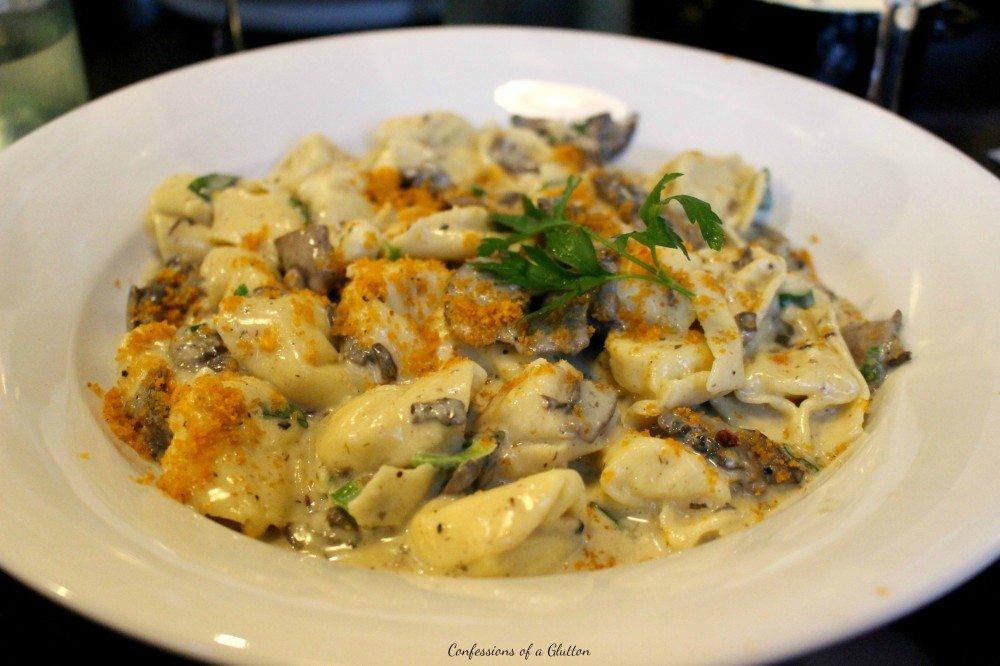 My Tortellini Tartufo - ricotta filled tortellini with cream, mushroom and truffle ($19.90)
