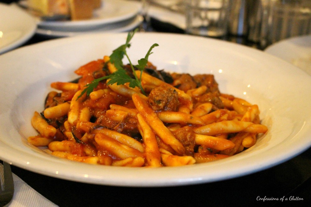 Night Owl's Maccheroni della Zia - home made pasta with mini meatballs, eggplant, Napoli sauce and basil ($17.50)