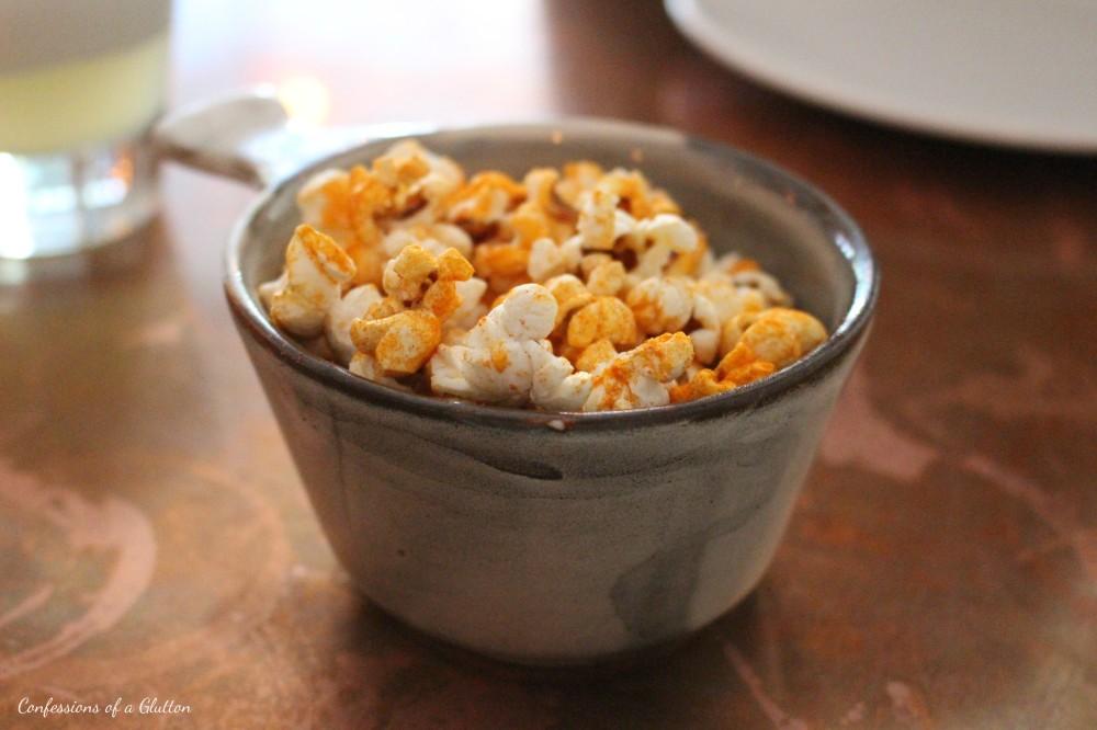 Complimentary paprika popcorn
